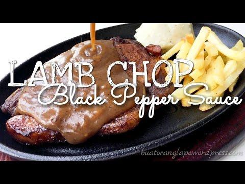 Lamb Chop with Black Pepper Sauce