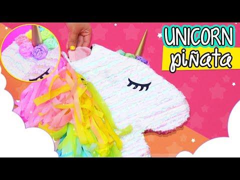 DIY UNICORN PINATA ✨🦄  Fun & Easy Party Ideas | How to make a piñata (ENGLISH VERSION) ✄ Craftingeek