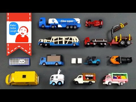 Learning Special Street Vehicles Names and Sounds and more for kids with tomica siku lego