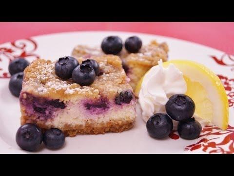 Blueberry Lemon Cheesecake Bars: Recipe: How To Make: Easy! Diane Kometa-Dishin' With Di Recipe #100