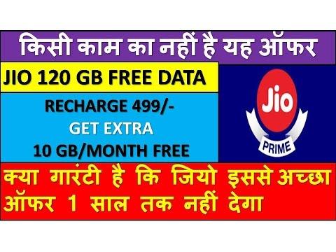 JIO 120 GB FREE DATA OFFER   जानिए क्यों जियो का 120 GB मुफ्त डाटा वाला फ्री ऑफर किसी काम का नहीं है