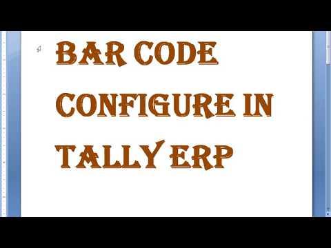 Bar code in Tally Erp 9