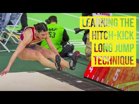 Learning the hitch-kick long jump technique