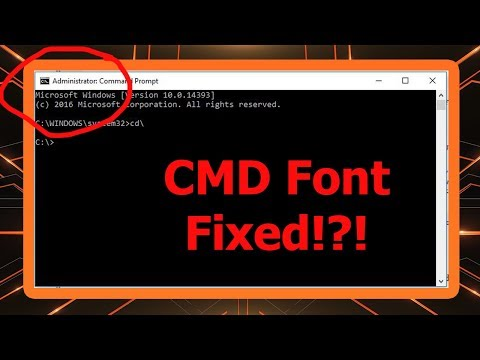 [Fixed] Windows 10 - CMD Font Size too Small | 100% Working Method.
