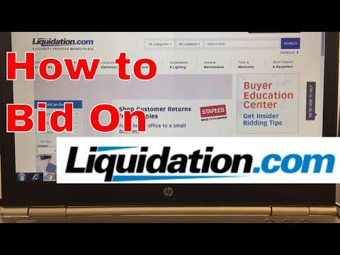 How to bid on auctions at Liquidation com