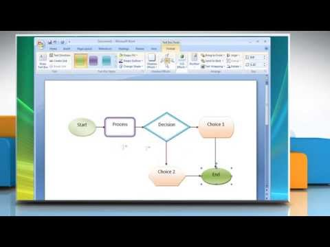 Creating a Flow Chart in Microsoft® Word 2007 on Windows® Vista