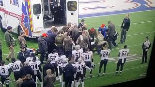 Bills vs Saints horrible injury for one of the Saints player spinal injury