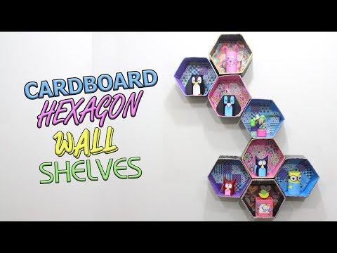 How to make Cardboard Hexagon Wall Shelves | Do It Yourself | DIY Projects