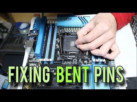How to fix Bent Motherboard Pins on an Intel Socket (X99 2011-v3)