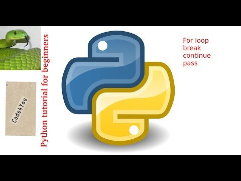 [Hindi] Python -for loop,break,continue,pass|| Python Tutorial #5|| For beginners