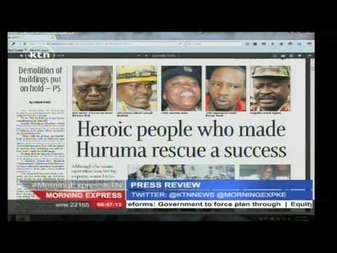 HURUMA HEROES: Thank you to Brigadier Ngaira, Pius Masai and team for a job well-done