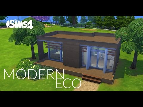 Sims 4 House Building - Modern Eco (10x10 challenge)