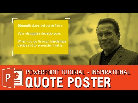How to design a poster in powerpoint - poster template tutorial ✔