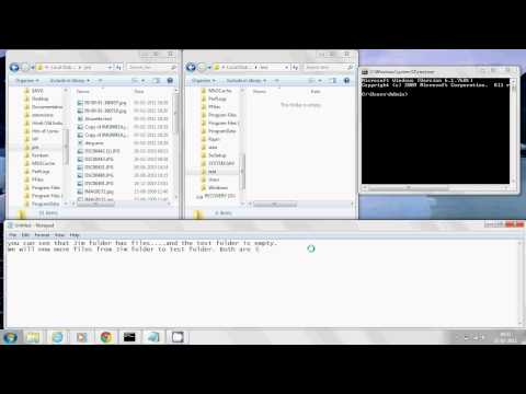 How to move files from one  folder to other  using DOS command in Windows