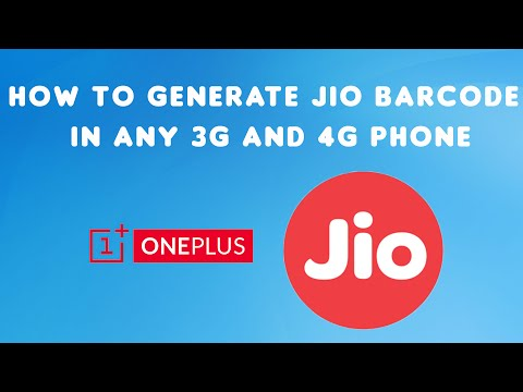 How to Generate JIO Barcode in any 3G and 4G Phone | (Working with all 3G and 4G Phones )100% Work
