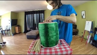 Smoking The World Record 42 Pound Watermelon Joint
