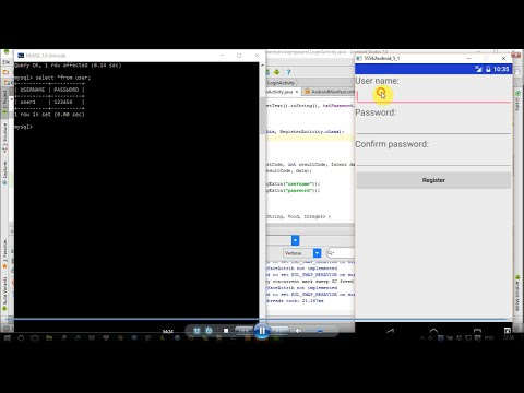 Android tutorial: HttpUrlConnection connect web service PHP +  MySQL and get return info