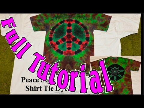 DIY: Peace Sign, Star Tie Dye two design shirt [Tutorial] #5