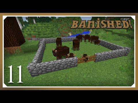 Minecraft Banished Modpack | Wild Cow Herding | E11 (Harsh Survival Minecraft 1.10.2)