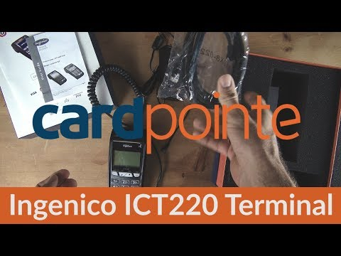 Cardpointe Terminal - Credit Card Terminal by CardConnect - Ingenico ICT220 Terminal Demo