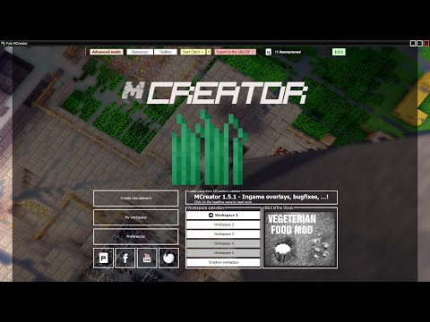 Minecraft Mod Making With MCreator #3 Structure Generation, Mobs and plants