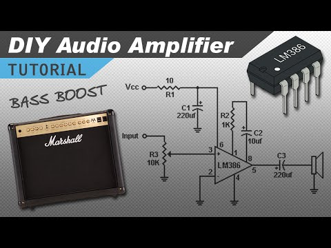 Make a Great Sounding LM386 Audio Amplifier with Bass Boost
