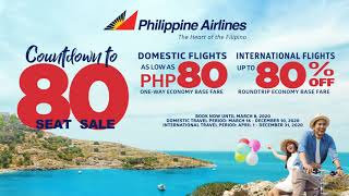 PAL's Countdown to 80 Anniversary Seat Sale!
