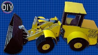 Easiest Way To Make JCB/Bulldozer From Cardboard | (DIY JCB) | The DIY channel
