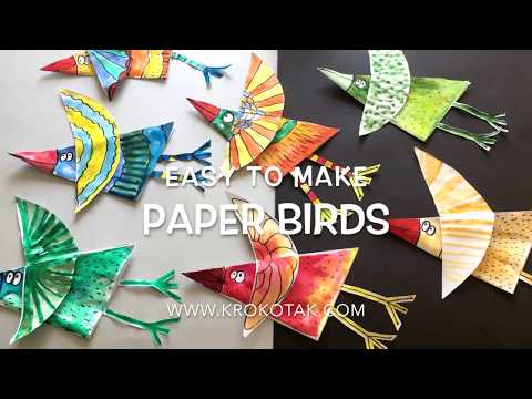 easy to make paper birds