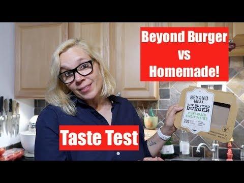 Taste Test - Beyond Meat Burger vs Homemade (vegan!)