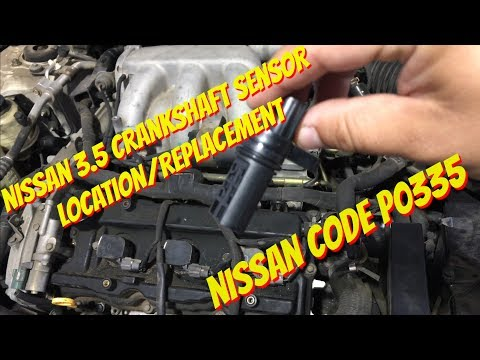 Nissan Maxima 3.5 Crankshaft Position Sensor Replacement P0335