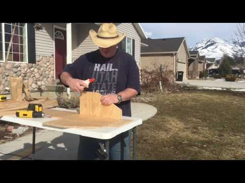 DIY building a nesting box for rabbits or chickens
