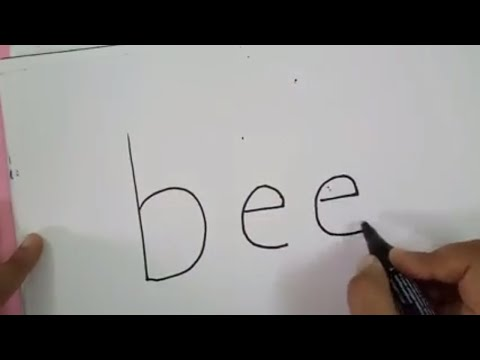 Draw Bee From Letter BEE | Kids Drawing Ideas | CraftLas