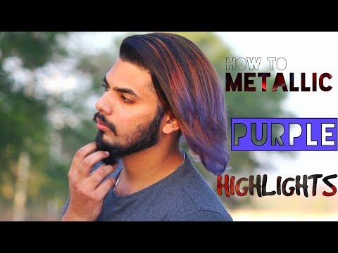 2017-Mens Hair Purple Highlights ★ Men's hair colour & styling for summer ★