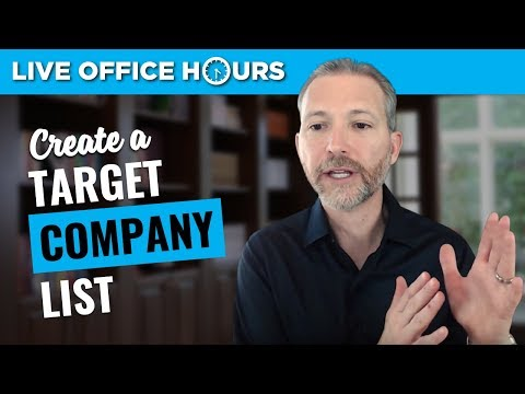 How to Create a Target Company List for Your Job Search: Live Office Hours: Andrew LaCivita