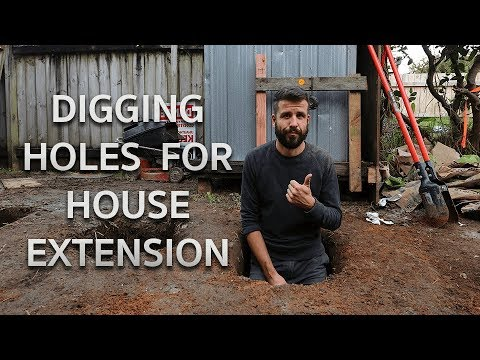 Digging Holes for a House Extension