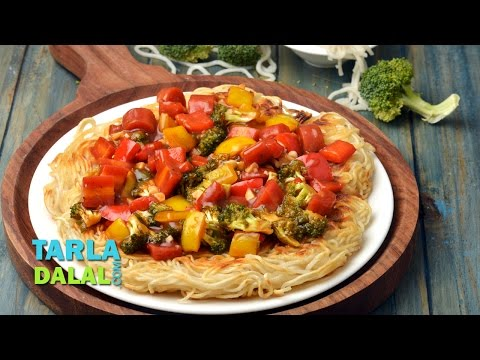 Pan Fried Noodles ( Chinese Recipe) by Tarla Dalal