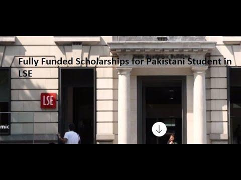 Scholarships for Pakistani Student in LSE l London School of Economics