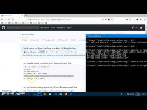 How to push git repo from Windows 10 CMD