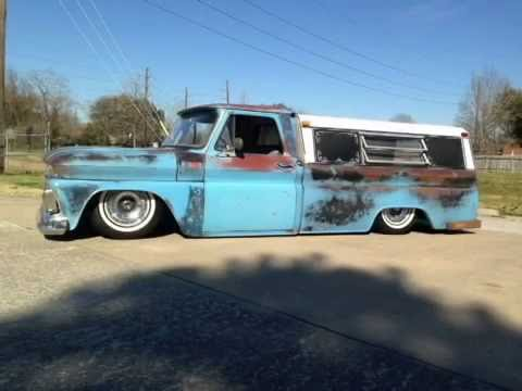 Baby Blue 1965 Chevy Truck - bagged