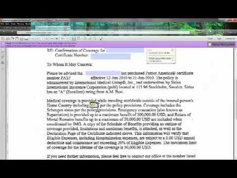 Review Sample Letter for Visa