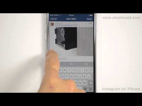 Instagram For iPhone - How To Remove Tags And Tagged People From Posts