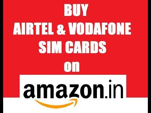 buy vodafone and airtel sim cards on  Amazon