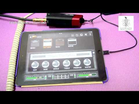 ipad + Line6 Sonic port + Bias playing by Victor View