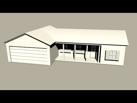Maya 2014 tutorial : How to model a basic low poly house