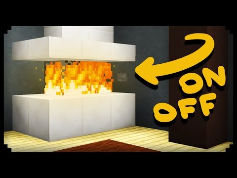 ✔ Minecraft: How to make a Working Fireplace