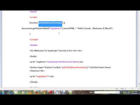 TAMIL ONCLICK EVENT IN JAVASCRIPT DEMO