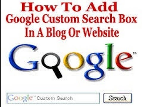 How to Add Google custom search box for blog OR website