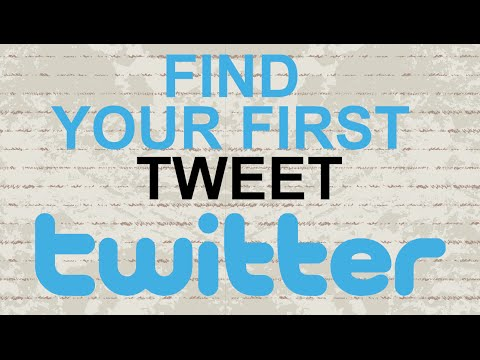How to find your first tweet