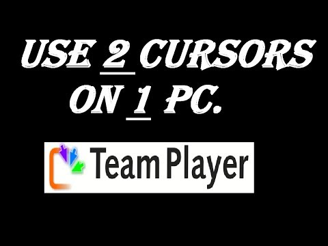 How to Control 2 Cursors on 1 PC - Control 2 Keyboards on 1 PC - 2018